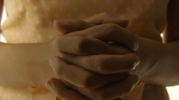 Vintage Girl Silhouette Hands Close ECU CC stock footage
