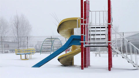 Winter playground Footage