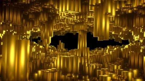 Gold Blocks Tunnel 04 stock footage