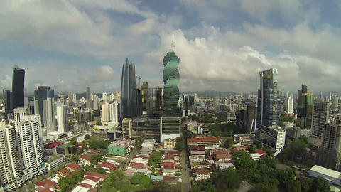 Panama City, Panama - NOV 2014: Aerial view over P Footage
