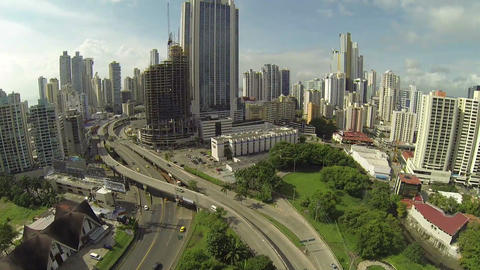 PANAMA CITY - NOV 5: Stunning view of Panama City  Footage
