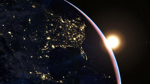 North America At Night stock footage