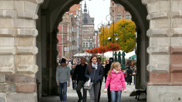 Gdansk, Poland. The Long Street stock footage