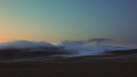 Beautiful tranquil Icelandic landscape at sunset Footage