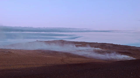 Escaping gases from geothermal vents or fumaroles Footage