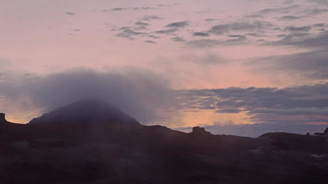 Gases venting from geothermal fumaroles Footage