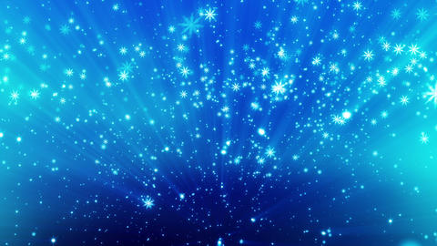 Snow Glitter Blue With Particles stock footage