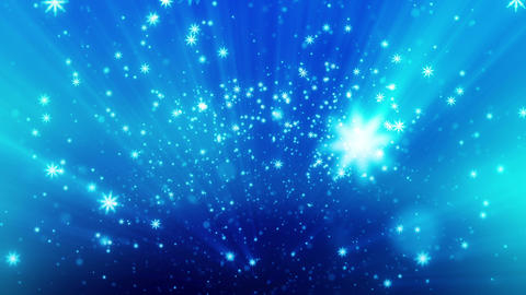 Snow Glitter Blue with Particles and Camera Blur Animation