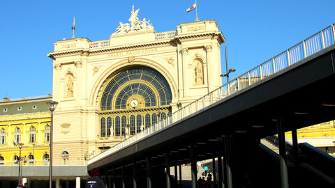 The Keleti palyaudvar Trainstation in Budapest Footage