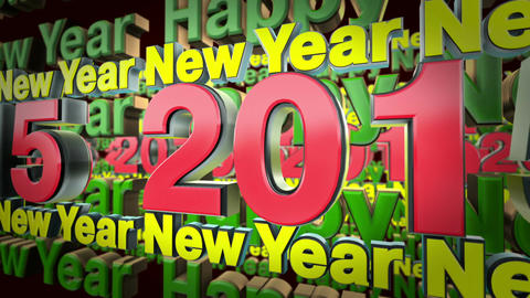 2015 New Year 3d Text Loop Animation stock footage
