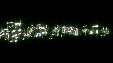 music note line CG動画