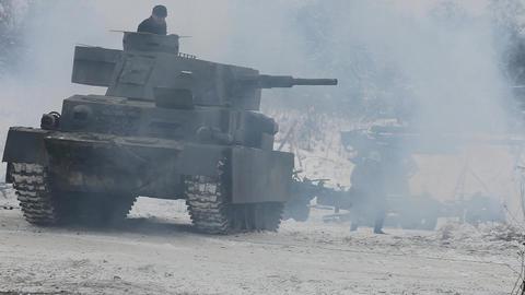 Armor Explosion Smoke War stock footage