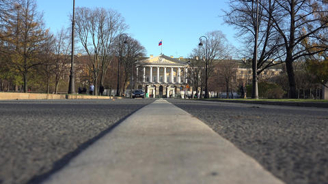 The Government Of St. Petersburg. Smolny. 4K stock footage