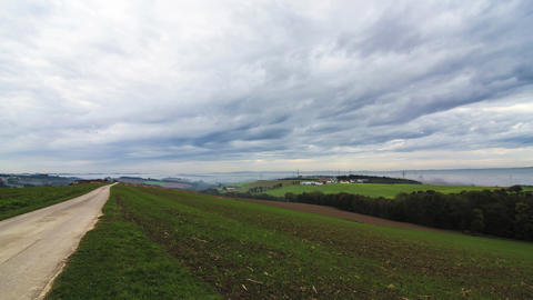Clouds over the Austrian Countryside Footage