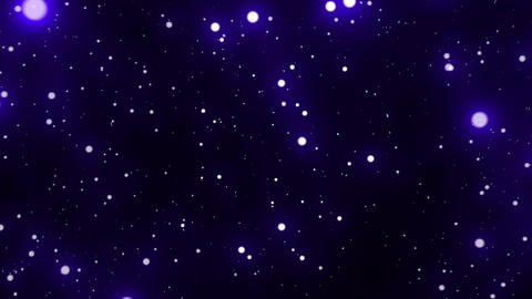 Blue Glowing Spheres Starfield Loop 2 rotate right Animation