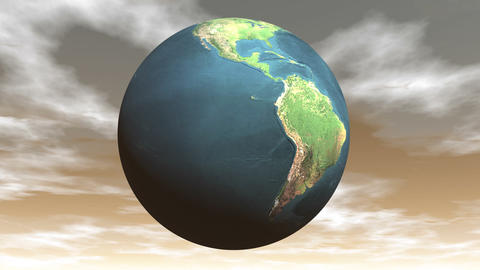Seamless looping earth - 3D render Animation