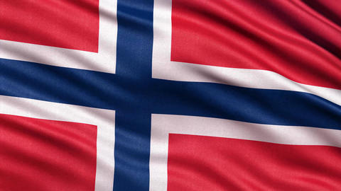 4K Flag of Norway seamless loop Ultra-HD Animation