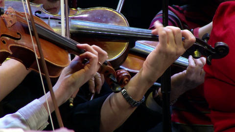 violin-playing of the orchestra Footage