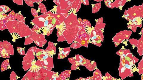 Japanese Folding fan B 2b 4k Animation