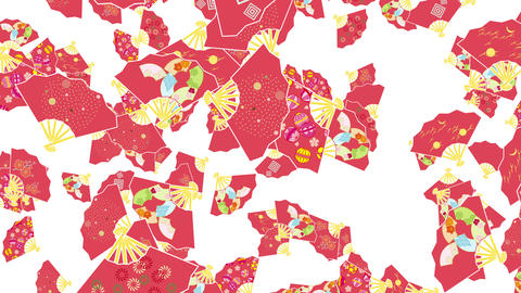 Japanese Folding fan B 2 4k Animation