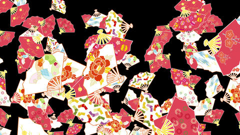 Japanese Folding fan Bd 1b 4k CG動画