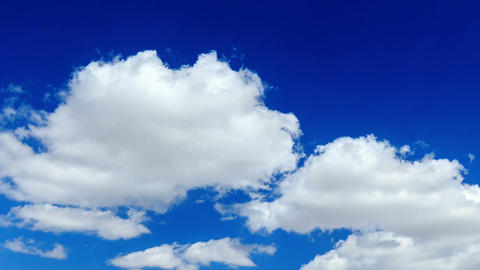 Clouds in the blue sky. TimeLapse. 1280x720 Footage
