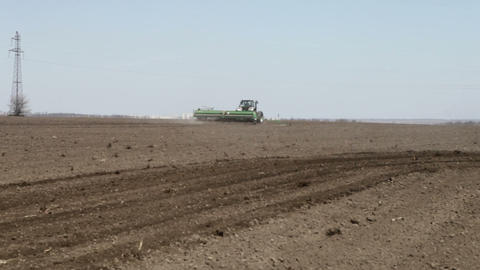 seeder sowing and went away Footage