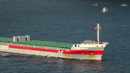 General cargo ship heading out Bosphorus Footage