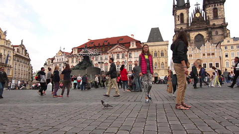 The Old Town Square in Prague Footage