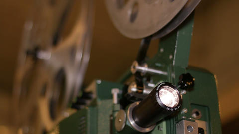Film Projector Projecting 16mm Movie stock footage