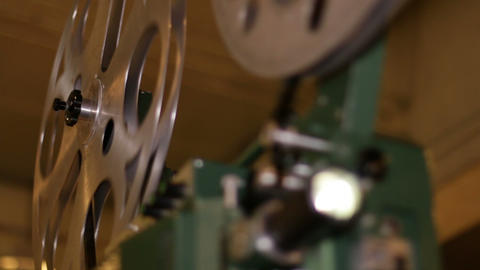 Film Projector Projecting 16mm Movie Stock Video Footage