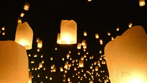 Yii Peng Festival Lanterns Footage