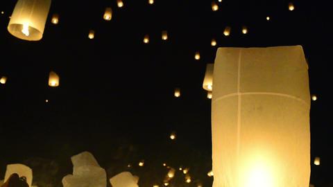 Yii Peng Sky Lanterns Footage