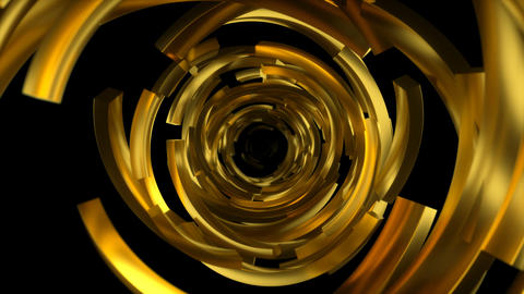 Gold Circles Broken Travel With Alpha stock footage