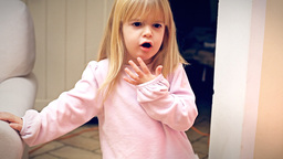 Christmas Eve little girl grouch Footage