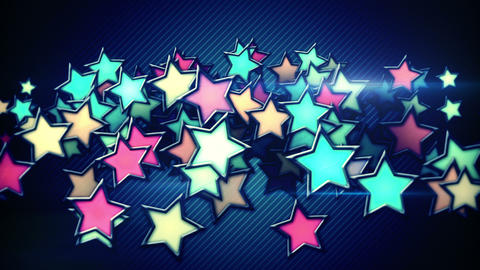 glowing colorful stars loop background Animation