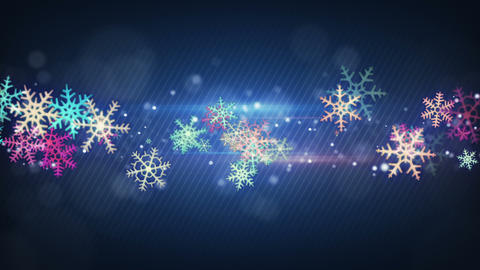 colorful snowflakes seamless loop christmas backgr Animation