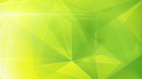 Abstract Triangle Geometrical Green Background Loo stock footage