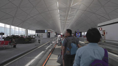 moving walkway - - hong kong international airport Footage