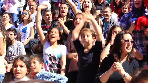 Children enjoying the music Footage