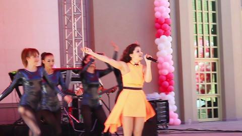 Singer performing onstage Footage