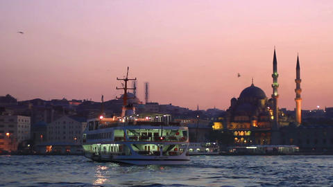 Istanbul At Sunset stock footage