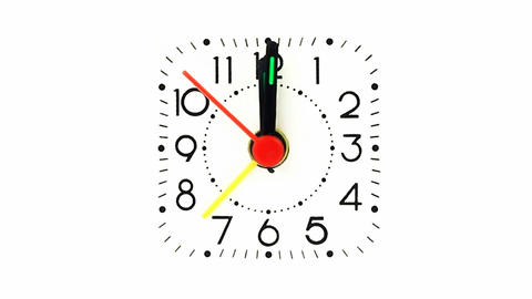 Alarm clock on white background Footage