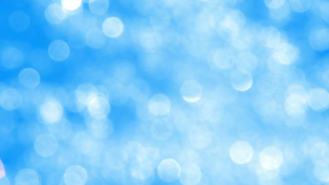 Blurred Blue Sparkles Background stock footage