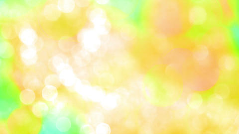 Bokeh Particles On A Yellow Background stock footage