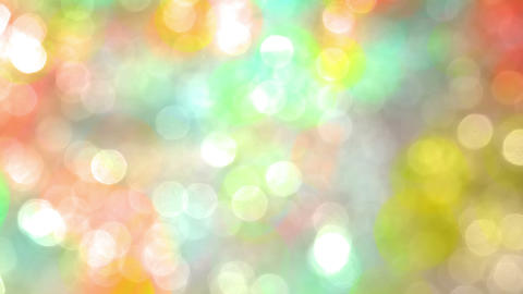 Colored Bright Spots in Bokeh Footage