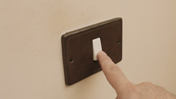 Light switch on off Footage
