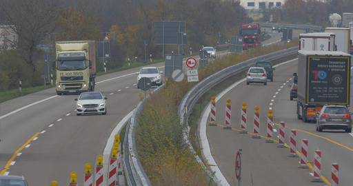4K, Traffic on german Autobahn, Cars and Trucks Footage