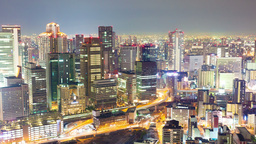 4k Timelapse Video Of Osaka In Japan At Night, Zoo stock footage