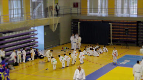 Judo Warming Up Exercises stock footage